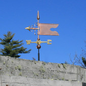 Banner Weathervane on blue sky background