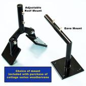 arrow weathervane mounting