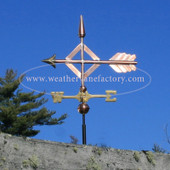 diamond arrow weathervane side view