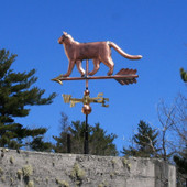 Cat Weathervane left side view