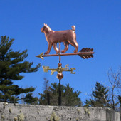 Small bobtail walking cat weathervane