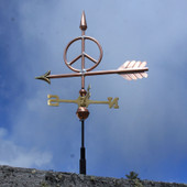 Small Peace Sign Weathervane