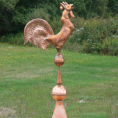 Copper Spinning Rooster Finial F141