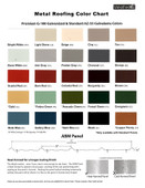 Sumner Louvered Cupola - Metal Roof Color Chart