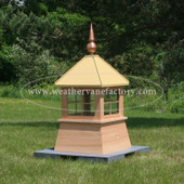 Waterville Window Shed Cupola shown in Red Cedar with Copper Final and Metal Roof