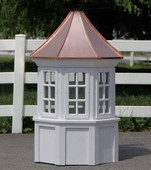 Prospect Octagon Window Cupola with Concave Roof