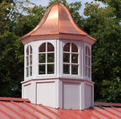 Sorrento Arched Octagon Window Cupola with Bell Roof