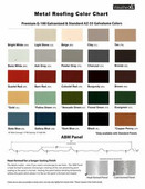 Brentwood Octagon Window Color Cupola - Metal Roof Color Chart