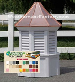 Durham Octagon Louvered Color Cupola