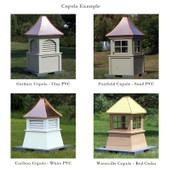 Bailey Gazebo Octagon Louvered Cupola with Finial