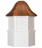 Williamsburg Louvered Cupola with Bell Roof