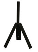 steel three prong weathervane roof mount for a three sided roof or a Hexagon Roof.