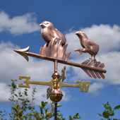 Two cool chicks weathervane