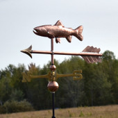 Copper Trout  Weathervane on a Arrow