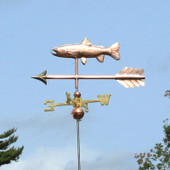 Flip side view of our trout weathervane on an arrow