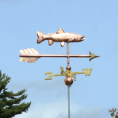 Blue Skies and a Trout Weathervane on an Arrow