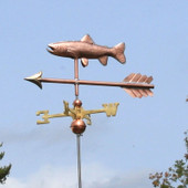 Copper Trout Weathervane