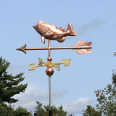 Jumping Largemouth Bass Weathervane  side view