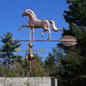"English Horse Weathervane left side view on blue sky background on 53"" Arrow"