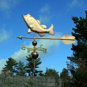 "Largemouth bass Weathervane on a 48"" arrow side view"
