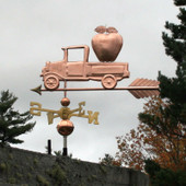 Pickup Truck with Apple Weathervane left side view on stormy background