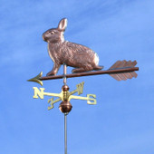 Rabbit Weathervane slight left side view on blue sky background