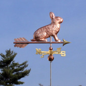 Rabbit Weathervane right angle on blue sky background