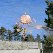 copper pumpkin carriage weathervane