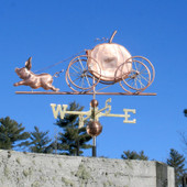 Pig Pulling a Pumpkin Carriage Weathervane