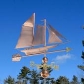 Skip Jack Sailboat Weathervane