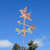Small Pig Weathervane front view on blue sky background