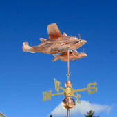 Southern Fighter Airplane Weathervane 739