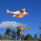 Southern Fighter Airplane Weathervane with Catfish Bombs