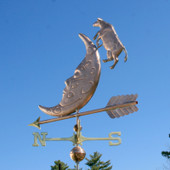 Cow Jumping Over The Moon Weathervane