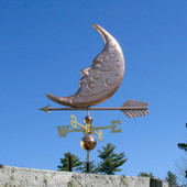Sleeping Man in the Moon Weathervane