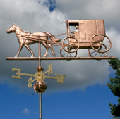 Amish Horse and Buggy Weathervane - 749