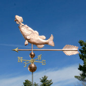 Large Bass Eating Sunfish Weathervane