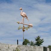 Running Flamingo Weathervane
