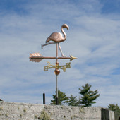 Running Flamingo Weathervane