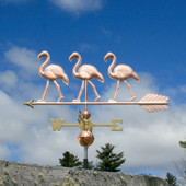 Three Flamingo Weathervane