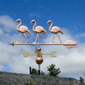 Three Flamingo Weathervane