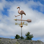 Walking Flamingo Weathervane