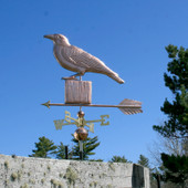 Crow on a Post Weathervane