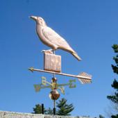 Crow on a Post Weathervane