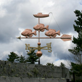 Fish and Boat Weathervane