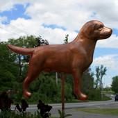 Handmade Copper Labrador Garden Stake