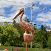 Pelican Garden Stake