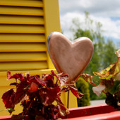 Heart Garden Stake