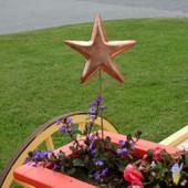 Copper Star Garden Stake