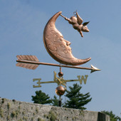 Flying Pig and Moon Weathervane